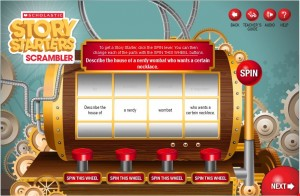 image from story starters website from scholastic
